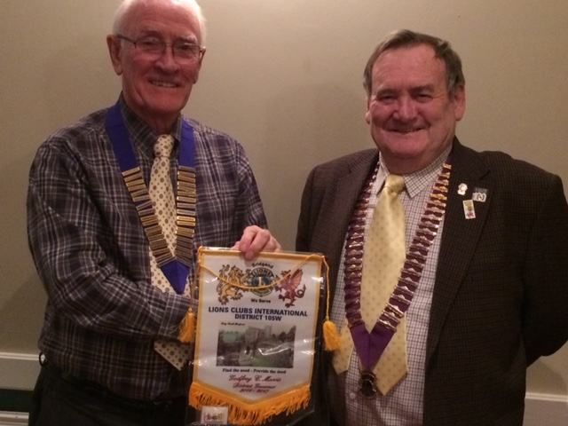 Lion Keith Mead with District Gov. Godfrey Morris