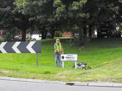 Roundabout on A350 maintained by Melksham Lions