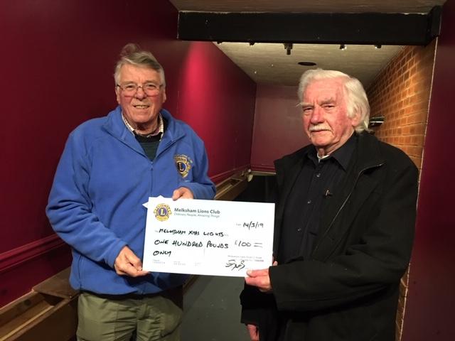 Melksham Lights cheque 2019