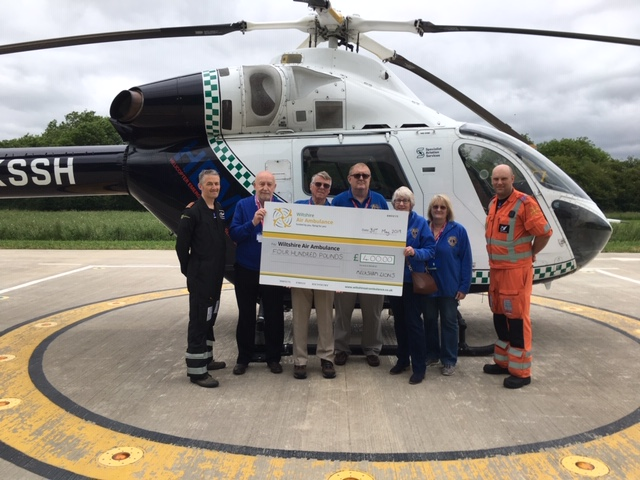 Donation presented to Wiltshire Air Ambulance